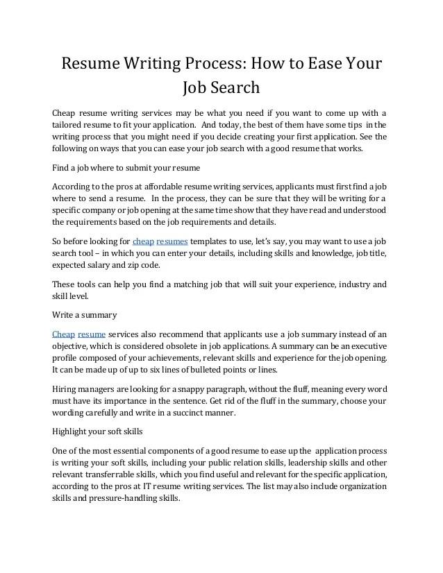 resume search process