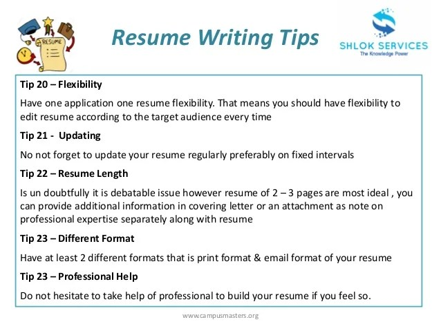 resume writing advice - Funfpandroid - best resume advice