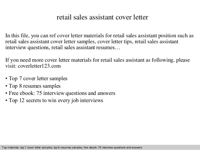 cover letter for sales assistant - Josemulinohouse
