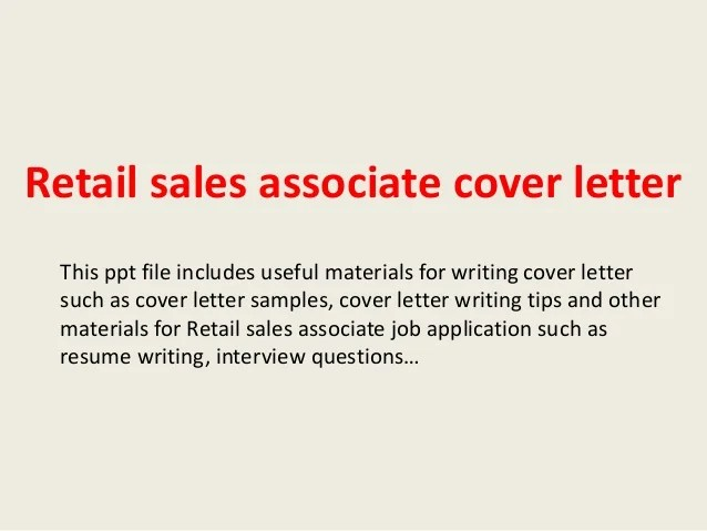 retail sales associate cover letter examples - Josemulinohouse