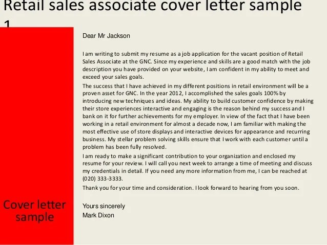 retail sales associate job description resume