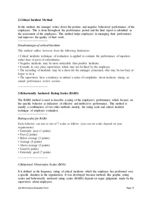 Performance Appraisal Completed Appraisal Form Shrm Online Retail Sales Associate Performance Appraisal