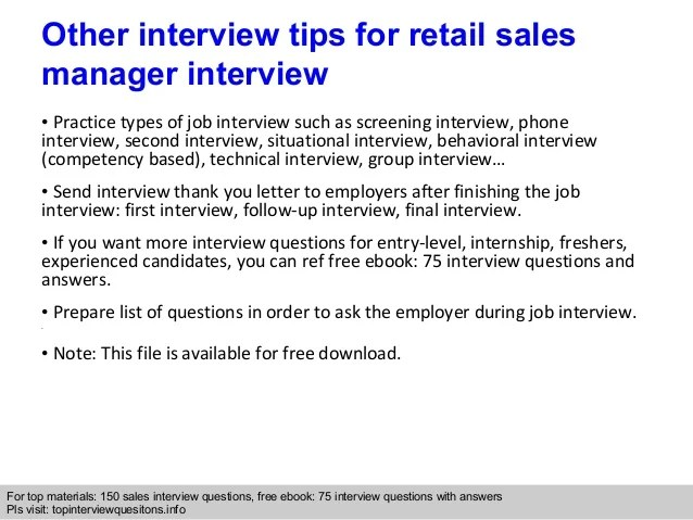 interview questions for retail - Onwebioinnovate