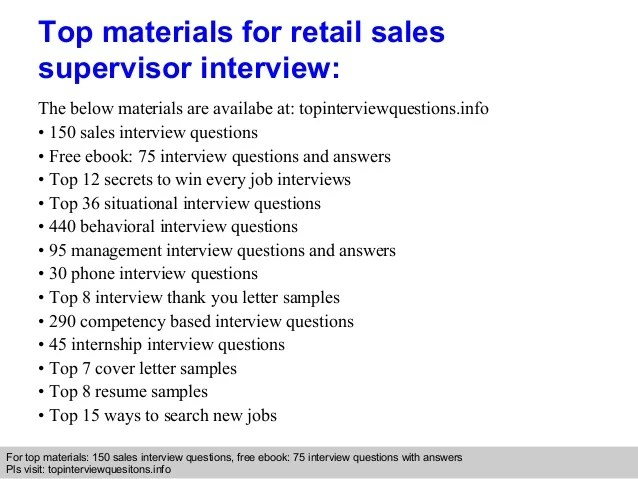 Career Development Services Old Dominion University Retail Sales Supervisor Interview Questions And Answers