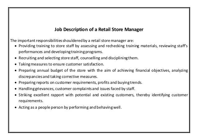 retail staff resume sample
