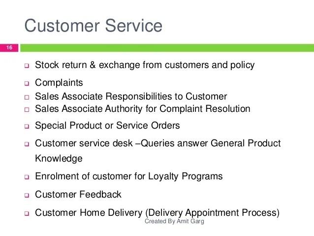 retail customer service job description - Towerssconstruction