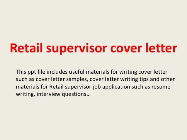 retail manager cover letter sample - Onwebioinnovate
