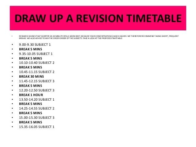 revision timetable template gcse - Towerssconstruction