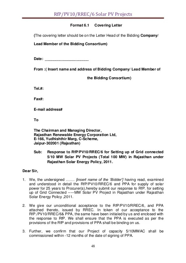 rfp acceptance letters - Minimfagency - rfp response cover letter sample