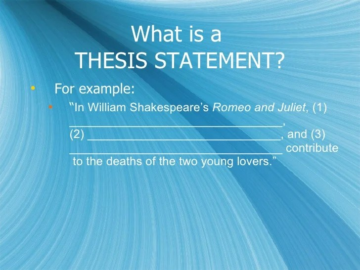 romeo and juliet essay thesis