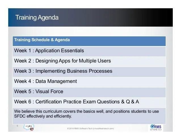 Computer Training Computer Certifications Microsoft Salesforce Training Course Agenda