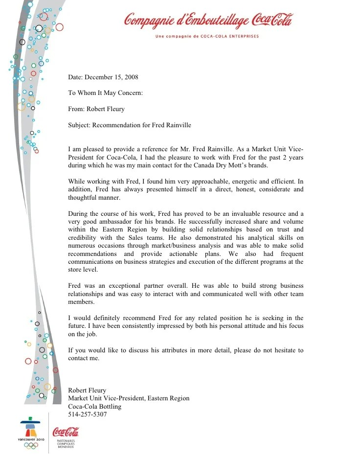 Letter To Request A Credit Reference Template With Sample Recommendation Letter