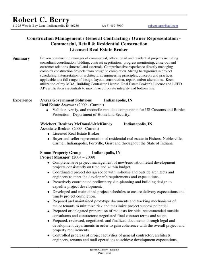 general contractors resume - Boatjeremyeaton - subcontractor resume