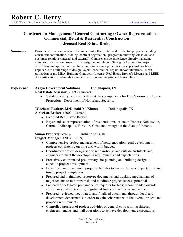 resume samples general contractor - General Contractor Resume