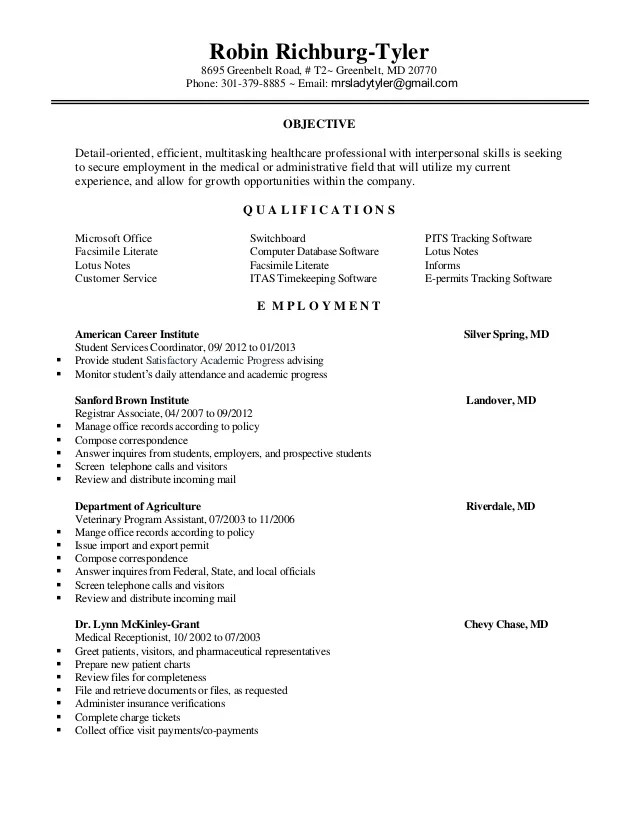 Resume Example Little Experience | Letter Of Application Sample