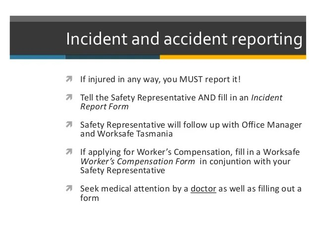 oh s incident report form
