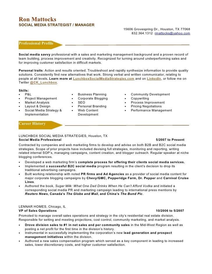 social media marketing resume examples - Ozilalmanoof - media resume examples