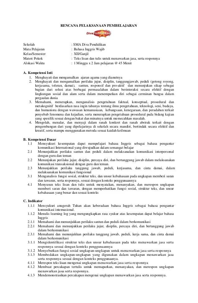 Rpp Bahasa Inggris Untuk Sekolah Dasar Kelas 1 Download Rpp Dan Silabus Berkarakter Bahasa Inggris Kelas Rpp 1 Bahasa Inggris Wajib Xii K13 Rpp Diva Pendidikan 1 638jpgcb