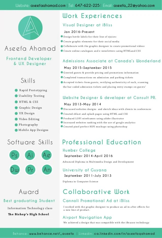 web developer skills based resume