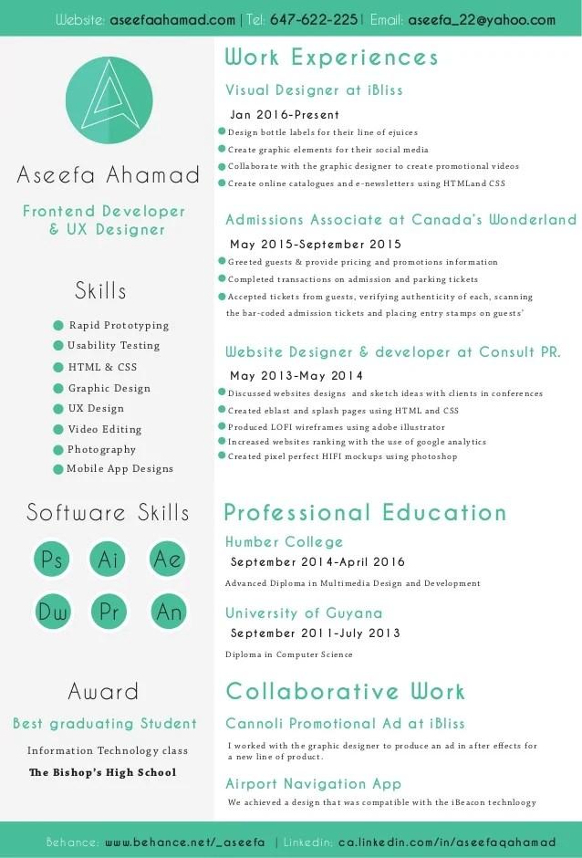 ux resume skills