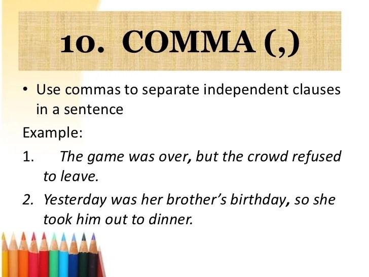 comma examples - Romeolandinez - comma and and
