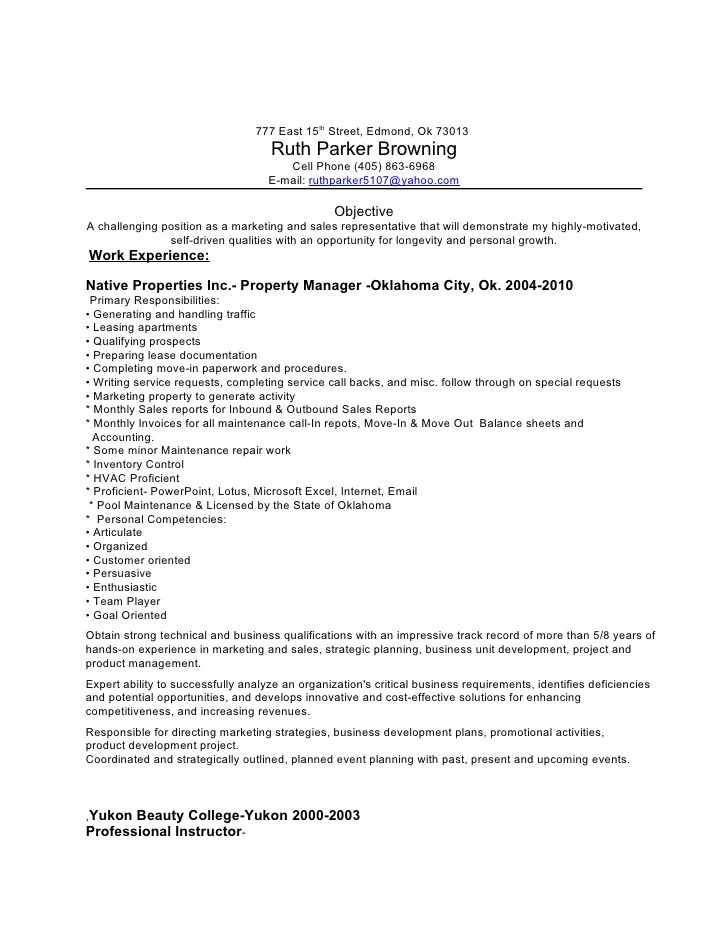 sample resume for property manager property manager resume example sample template job 777 east 15th street - Sample Property Manager Resume