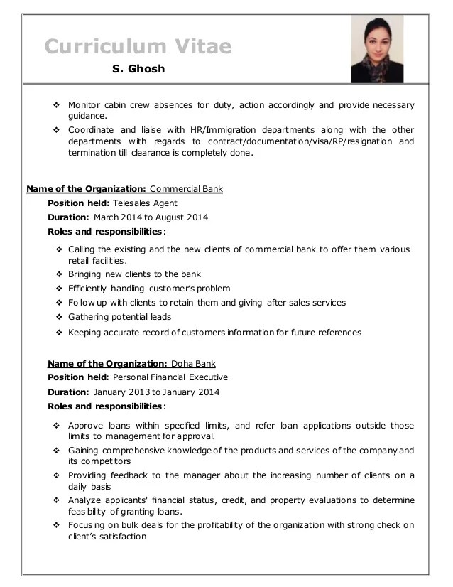 Middle east resume format