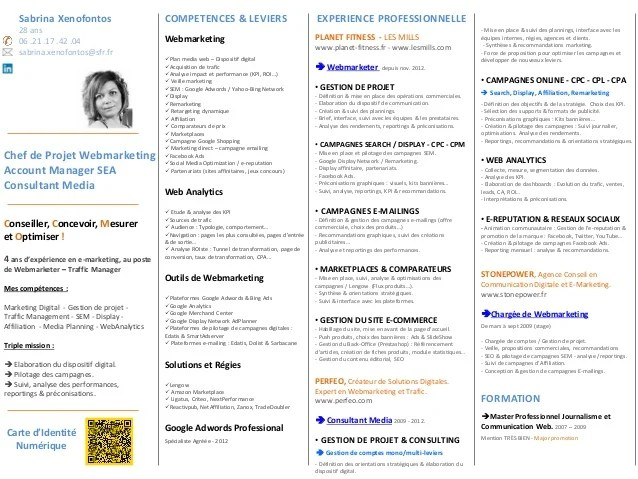 competences cv webmarketing
