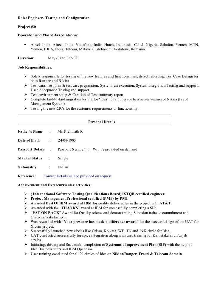 management skills for resume and get inspiration to create a good resume - Sample Resume For Project Manager In Telecom