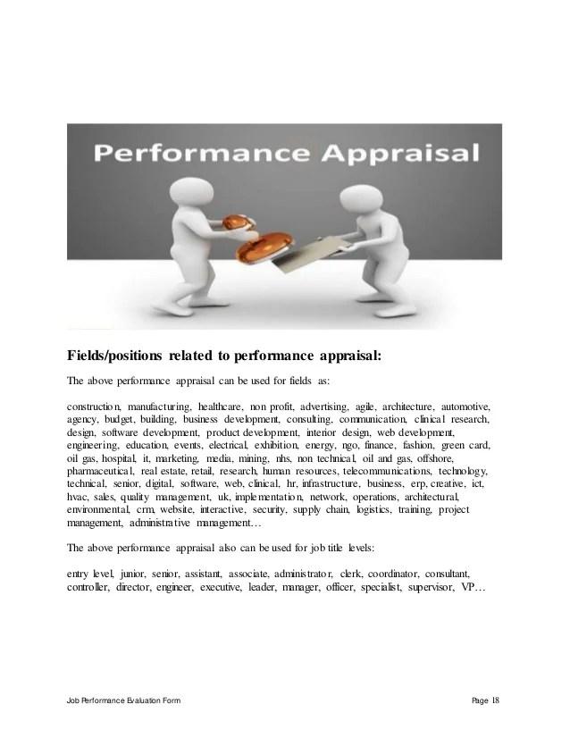 employee job performance evaluation form - Akbagreenw