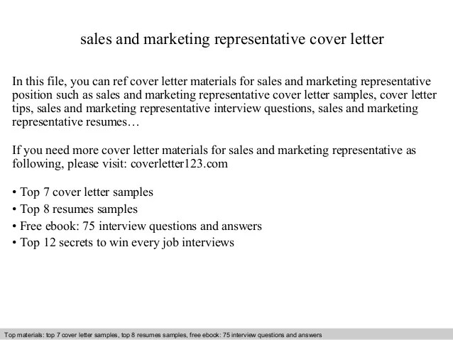 marketing sales cover letter - Onwebioinnovate