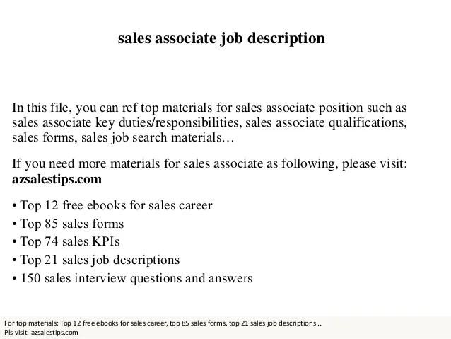 sales associate duties responsibilities - Eczasolinf - sales associate job dutie
