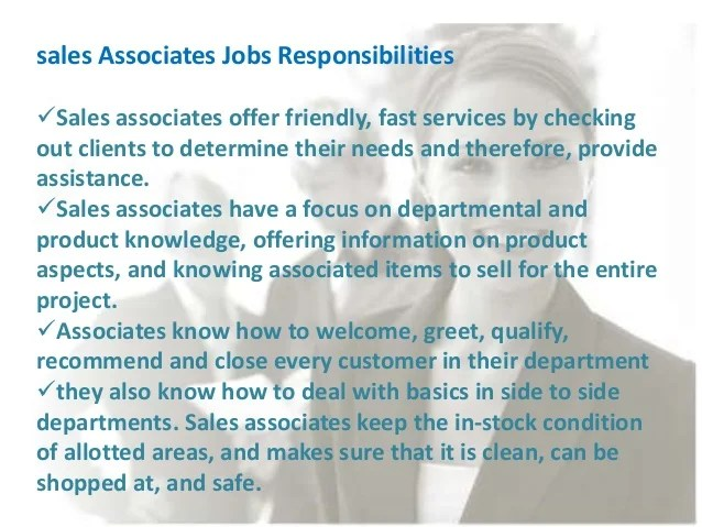responsibilities of a sales associate - Vatozatozdevelopment - sales associate job descriptions
