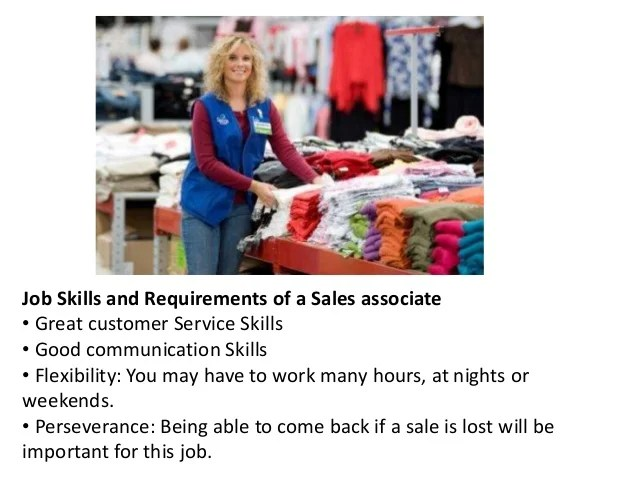 sale associate jobs description - Baskanidai - store associate job description