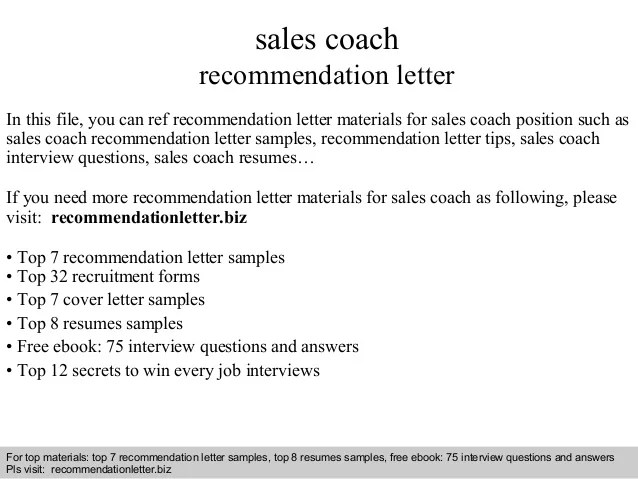 letter of recommendation for a coaching position example