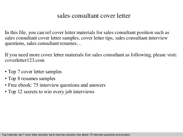 sales consultant cover letter - Romeolandinez - consulting cover letters
