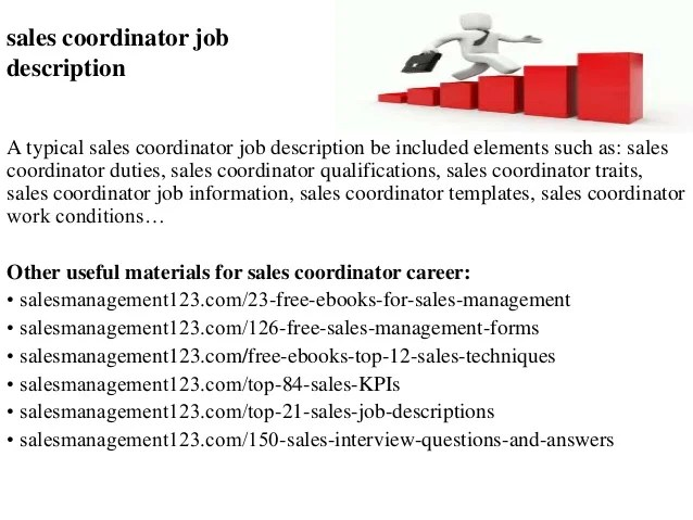 Awesome Sales Coordinator Job Description Gallery  Best Resume