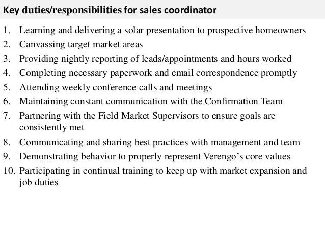 sales coordinator job description - Josemulinohouse