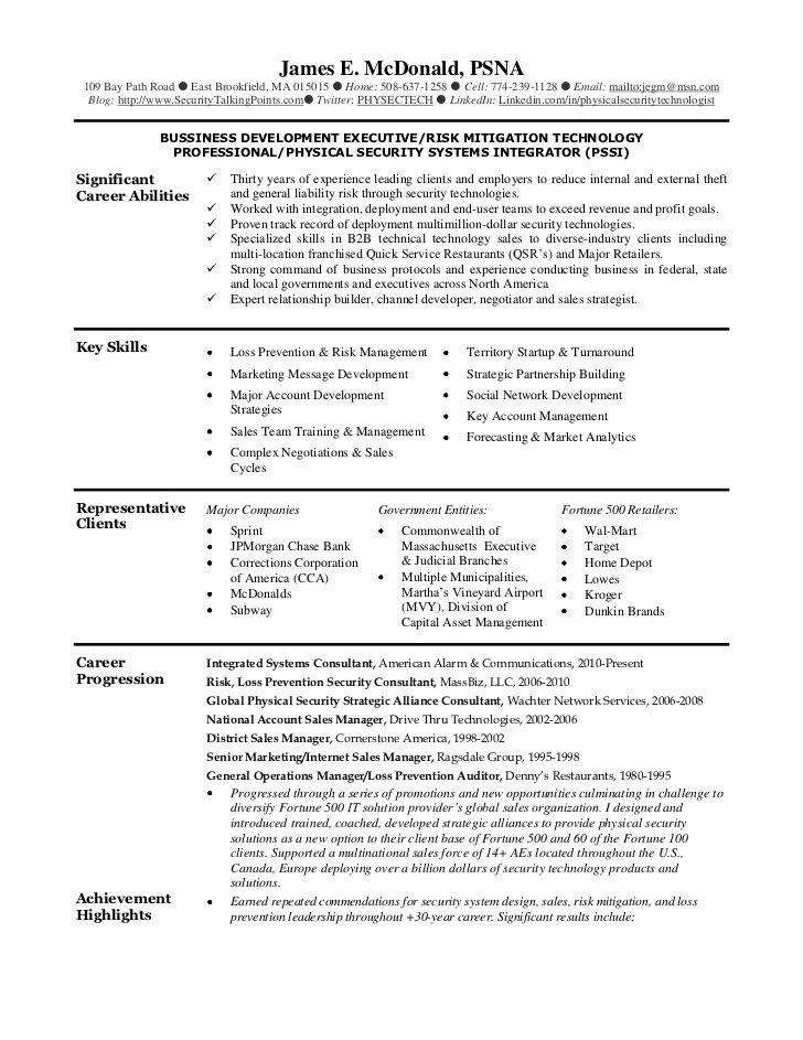 sample resume mcdonald 39
