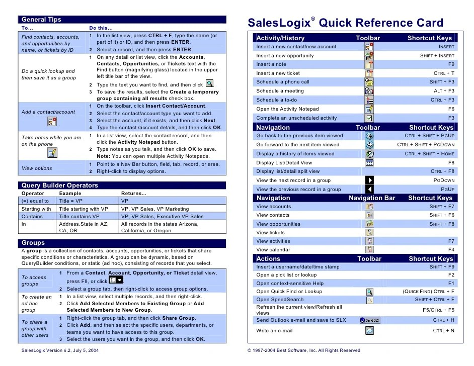 Doc.#668864: Quick Reference Guide Template Word – Quick Reference ...