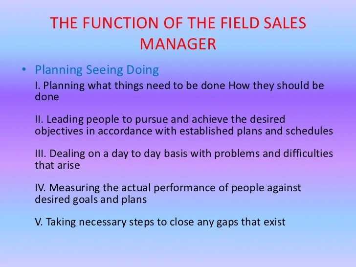 roles of a sales and marketing manager