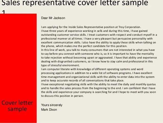 inside sales representative cover letter - Onwebioinnovate - inside sales representative cover letter