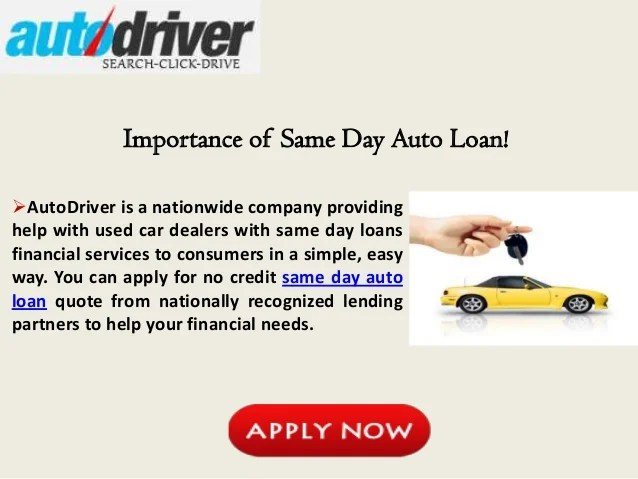 Same Day Car Loans for Bad Credit, Get Instant Same Day Approval for