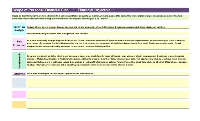 personal financial plan template - Funfpandroid