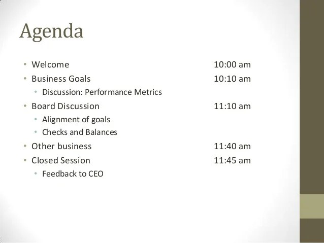 small business meeting agenda template - Baskanidai