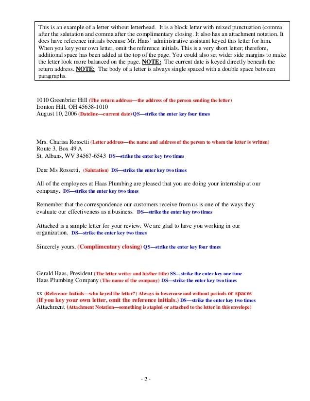 Purdue Owl Basic Business Letters Sample Business Letter