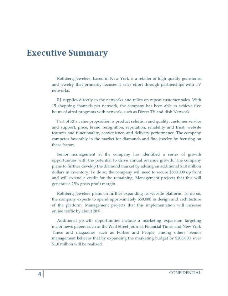 Self Storage Business Plan 10 Executive Summary Sample Business Plan