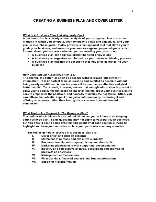 sample business plan cover letter - Ozilalmanoof
