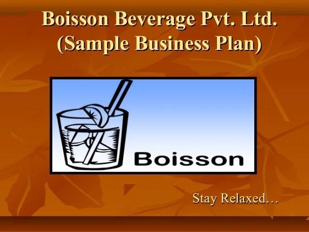 Food & Beverage Business Plans