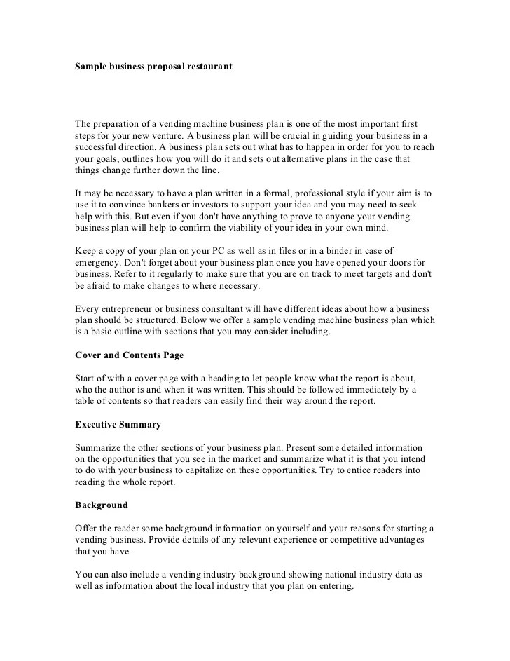 samples of written business proposals - Minimfagency - Business Proposals Format